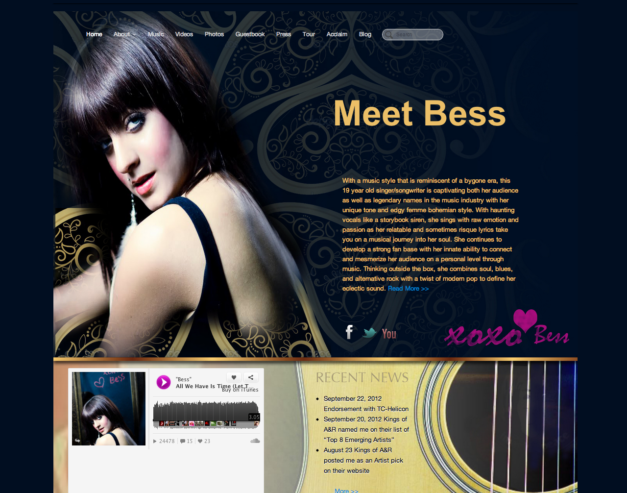 Website Design For Real Estate Agents and Musicians