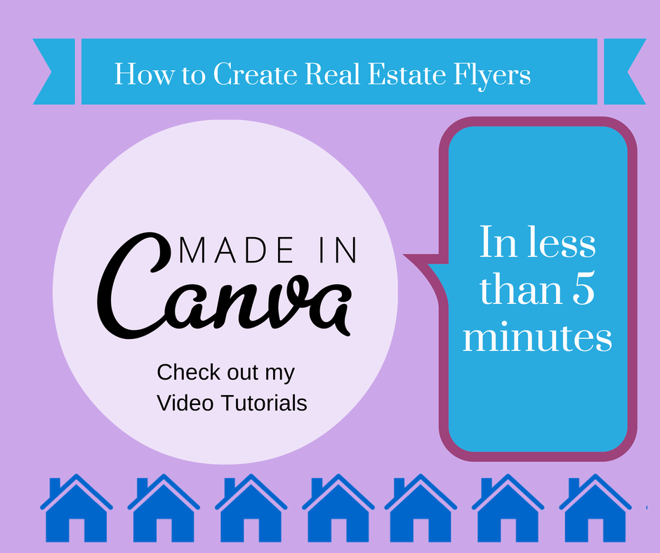 How to create real estate Flyers with Canva.com