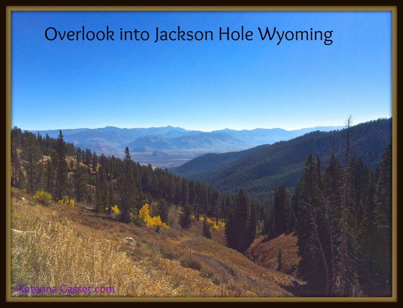 Overlook into Jackson Hole Valley Wyoming Ranches for sale