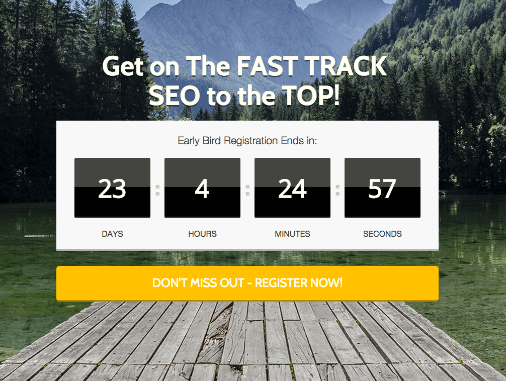 #FastTrackSEO Early Bird Registration