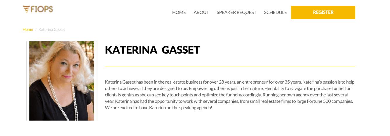 Katerina Gasset Speaker FIOPS Miami 2015